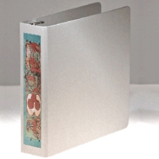 Naked Binder - bare board binder with label