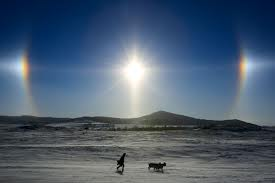 sun dogs - winter rainbows!
