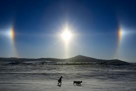 sun dogs - winter rainbows!