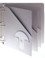 An eco friendly pocket folder for a 3-ring binder