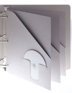 An eco friendly pocket folder for a 3-ring binder